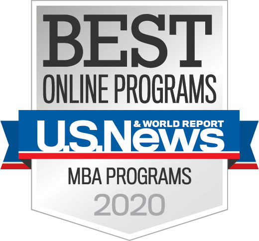 US News & World Report Best Online Programs MBA Programs 2020 Badge